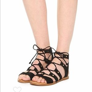 Dolce Vita Black Gladiator Sandals